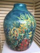 John Newdigate first big pot glaze firing in the new kiln